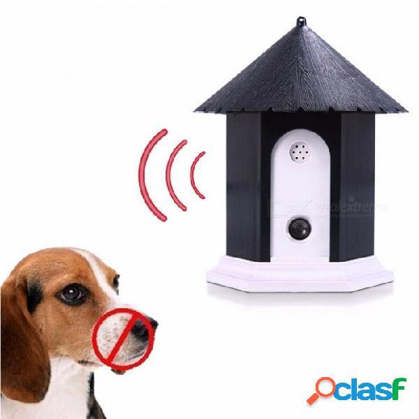 Perro de mascota ultrasónico anti ladridos repelente perro al aire libre control de corteza entrenador ladrando detener dispositivo de entrenamiento para perros domésticos negro