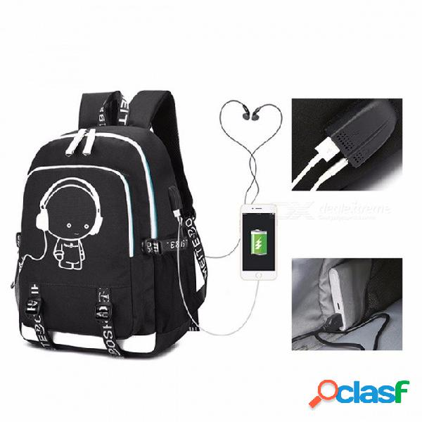 2018 nuevo bolso de escuela, mochila luminosa, moda multifuncional, bolsa de viaje de carga de 17 pulgadas