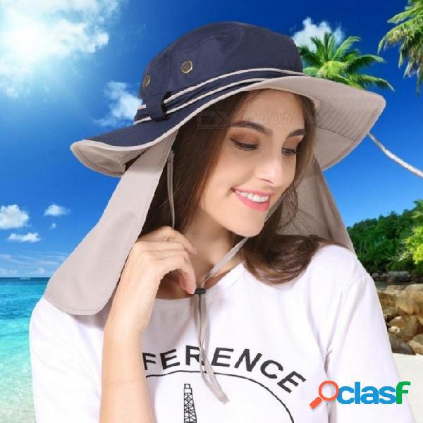 Ala ancha hombres mujeres sombrero de cubo con cuerda impermeable pesca al aire libre caza sombrero pescador gorras de hueso escalada de montaña sombrero para el sol