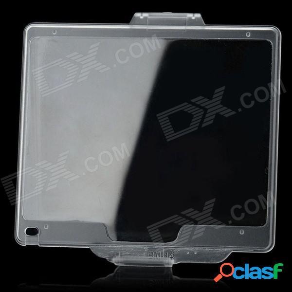 Cubierta de protector de pantalla brillante y resistente a snap-on compatible con bm-14 para nikon d600 - transparente