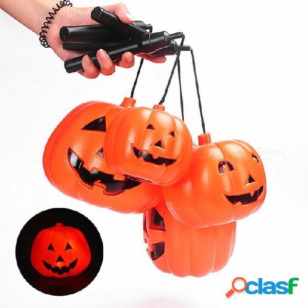 Halloween portátil calabaza luminosa naranja luz led festival accesorios para el hogar decoraciones apoyos de la oración niños regalos juguetes 10 * 9 cm naranja