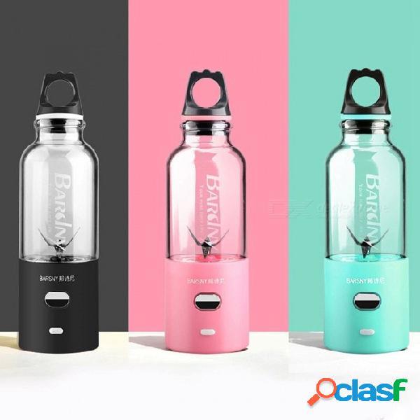 Mini usb pequeño exprimidor recargable hogar eléctrico portátil mezclador taza de jugo de bingo rosa / us / 6 v