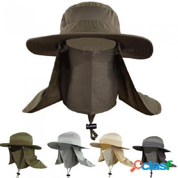 Sombrero del cubo al aire libre sombrero redondo de ala grande sombrero de secado rápido sombreros de pesca gorra de sol de verano para viajar escalada de montaña sombrero del cubo
