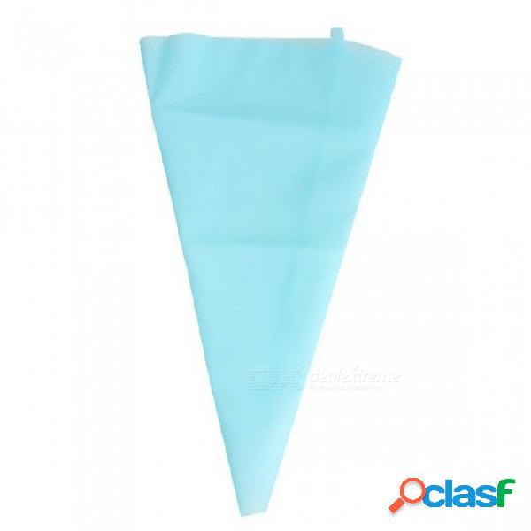 30 cm / 34 cm de longitud de silicona glaseado ribetes crema pastelería bolsa de decoración de pasteles kits de herramientas con color azul claro