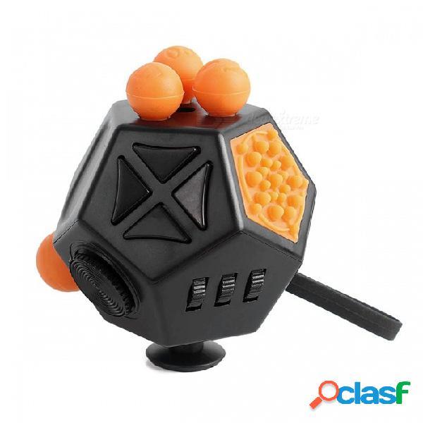 Fidget cube alivia el estrés y la ansiedad para niños y adultos 12 caras atención a la ansiedad toy fun cube para el tdah