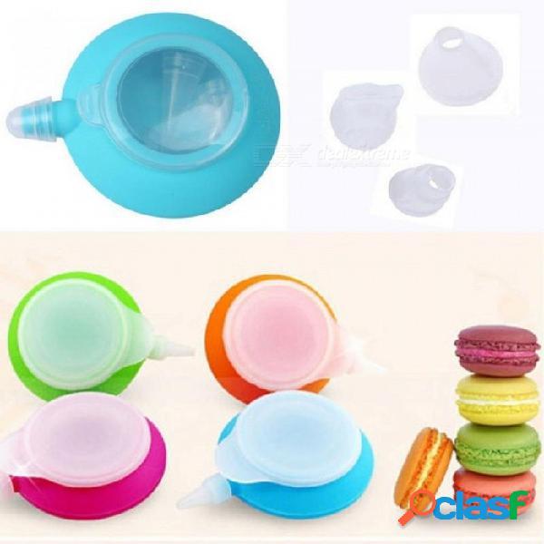 Nieuwe set kit de pastel de silicona postre macaron decoración pluma bakvorm 5 tortas herramientas de pastelería para 1 piezas azul