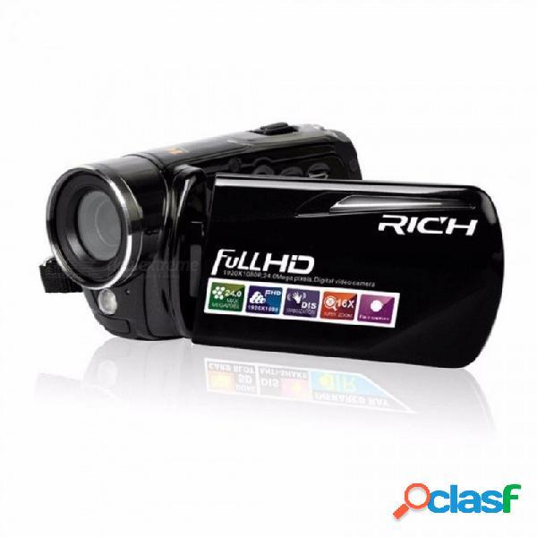 460s cámara de video infrarroja 1080p hd 16x zoom 3.0 \\ '\\' tft lcd cámara de video cámara de video digital dv dvr soporte para grabación nocturna en negro