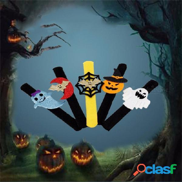 5pcs fiesta de halloween decorativos nueva palmadita pulsera del círculo aparece, fiesta de calabaza suministros multi