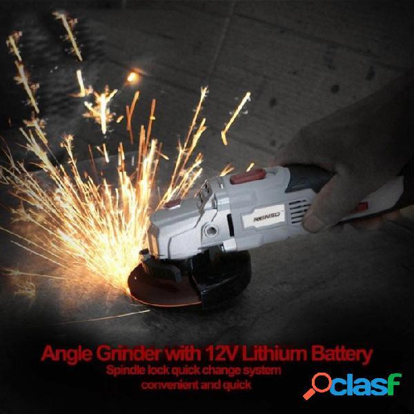 Amoladora angular con 12v batería de litio angular herramienta eléctrica corte inalámbrico y rectificadora máquina de metalistería con batería
