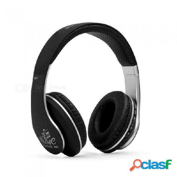 Auriculares estéreo con bluetooth portátiles n80, auriculares inalámbricos montados en la cabeza, compatible con llamada manos libres blanca