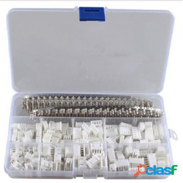 Esamact 560 unids xh2.54 2 p 3 p 4 p 5 pines 2.54 mm kit terminal de paso, vivienda / conector de pines, adaptador de conectores de alambre xh kit