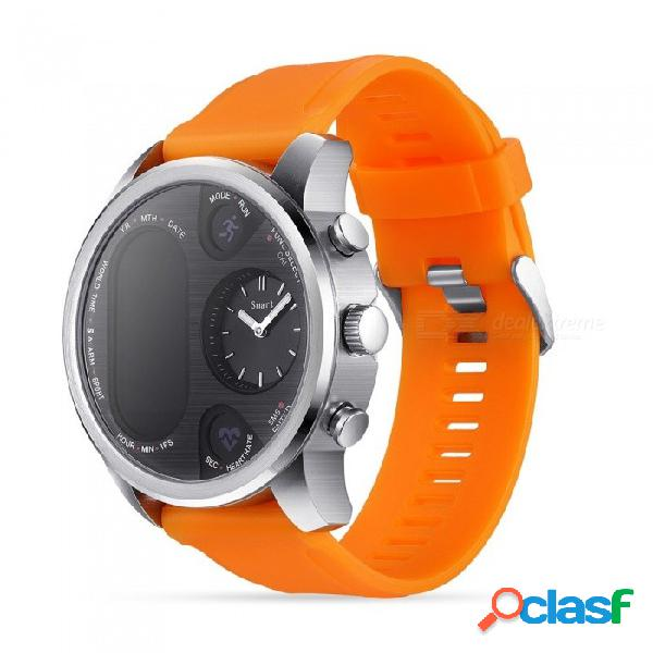 T3 sport reloj inteligente híbrido, dispositivo de seguimiento de actividad de fitness de acero inoxidable ip68 a prueba de agua 15 días brim smartwatch