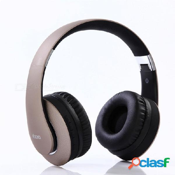 Auriculares plegables portátiles de bluetooth, auriculares inalámbricos para juegos con micrófono para teléfono, computadora, etc. negro