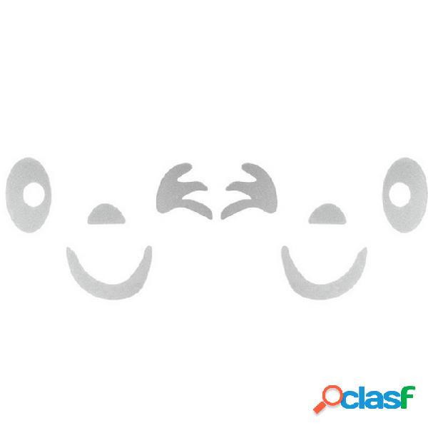 Etiqueta engomada de la decoración del diseño 3d de la cara de la sonrisa de ziqiao para el coche - plata