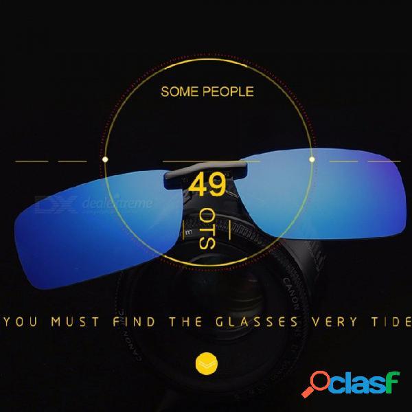 Gafas de sol unisex con espejo cuadrado, lentes recortadas polarizadas uv400 gafas de visión nocturna para conducir gafas recortadas negro verde