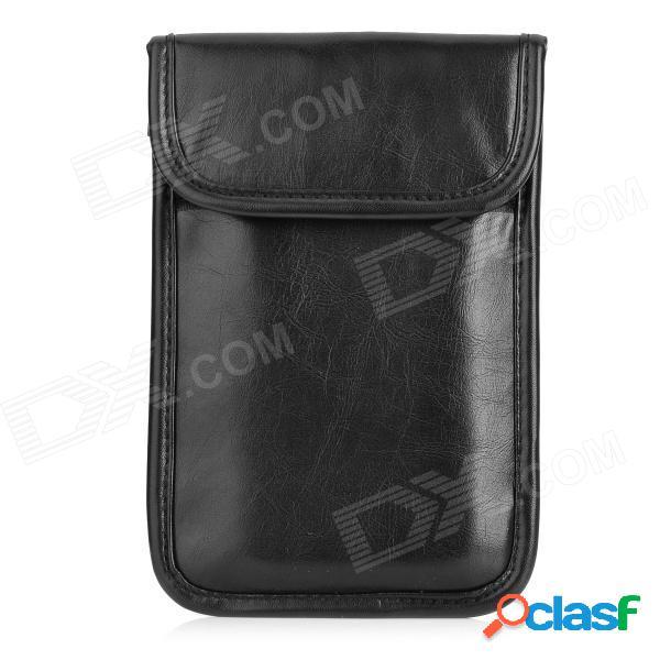 Protección universal de protección contra radiación blindado bolsa de bolsa de poliéster para el teléfono móvil - negro