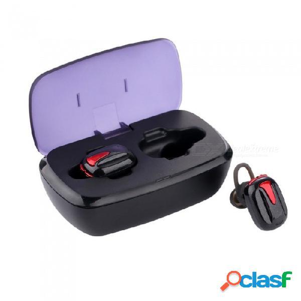 Tws-k8 mini auriculares bluetooth inalámbricos v4.2, micrófono incorporado en el auricular con caja de carga portátil