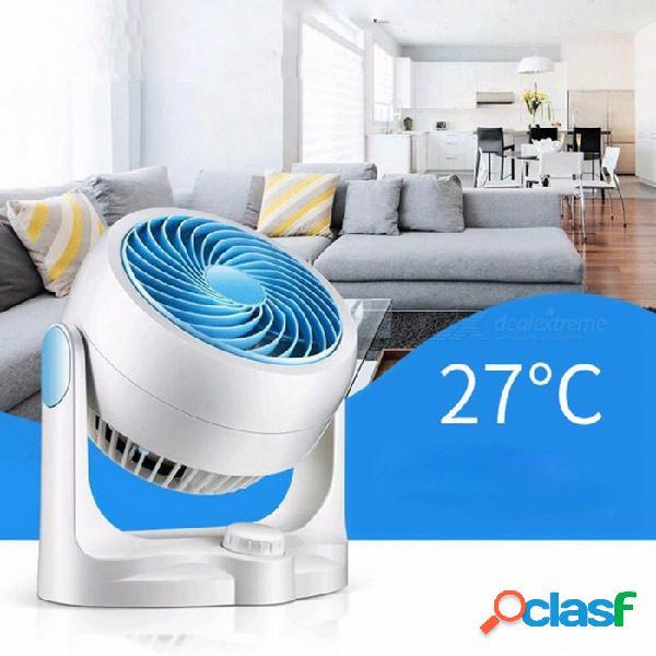 Modelos creativos de escritorio sacudiendo la cabeza control remoto silencioso turbina convección aire circulación ventilador azul / cn