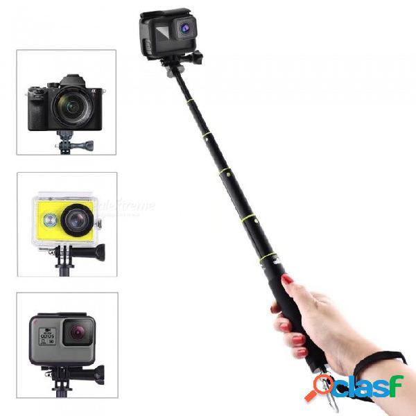 Monopod extensible portátil a prueba de agua selfie stick para gopro hero 6, héroe 5, sj6000, sj7000, xiaomi yi - negro