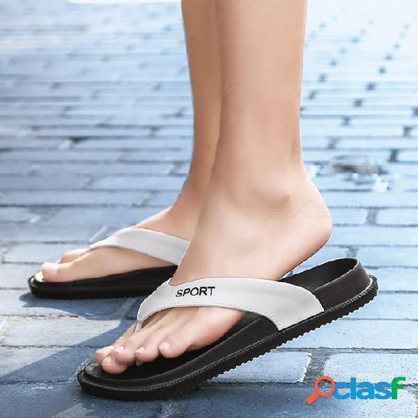 Sandalias de la playa de los hombres del verano sandalias, deslizadores masculinos respirables antideslizantes, zapatos casuales del dedo del pie del clip