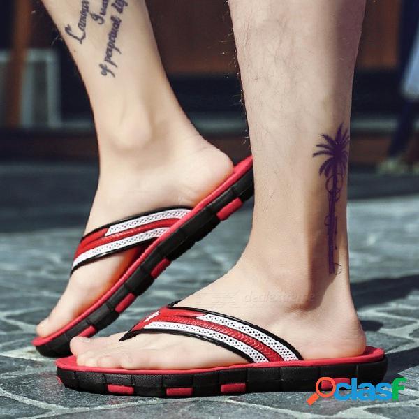 Sandalias de los hombres del verano, sandalias de playa de la manera del tamaño grande, deslizador masculino antideslizante, zapatos casuales del dedo del pie del clip azul / 40
