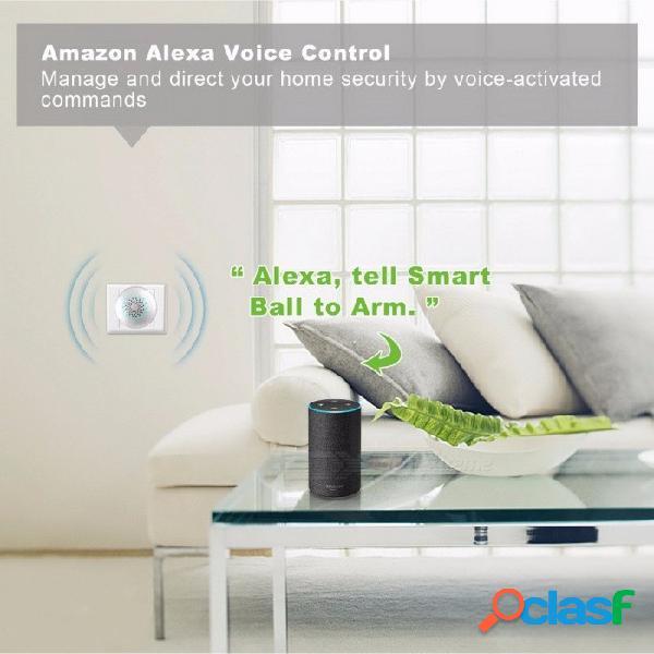 Sistema de alarma de seguridad para el hogar wi-fi kit de bricolaje alarma antirrobo con desarmado automático app pir sensor de movimiento alzheimer alarma de puerta blanco