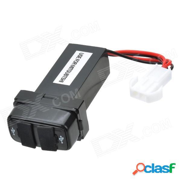 12v ~ 24v a 5v / 2.1a convertidor del inversor de corriente del coche del vehículo del puerto usb 2.0 para mitsubishi - negro