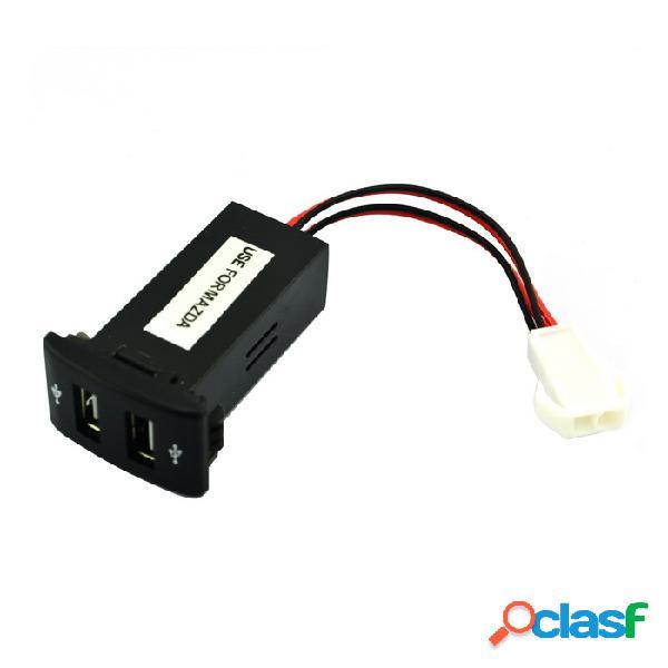 12v ~ 24v a 5v / 2.1a convertidor del inversor de corriente del coche del vehículo del puerto usb 2.0 para mazda - negro