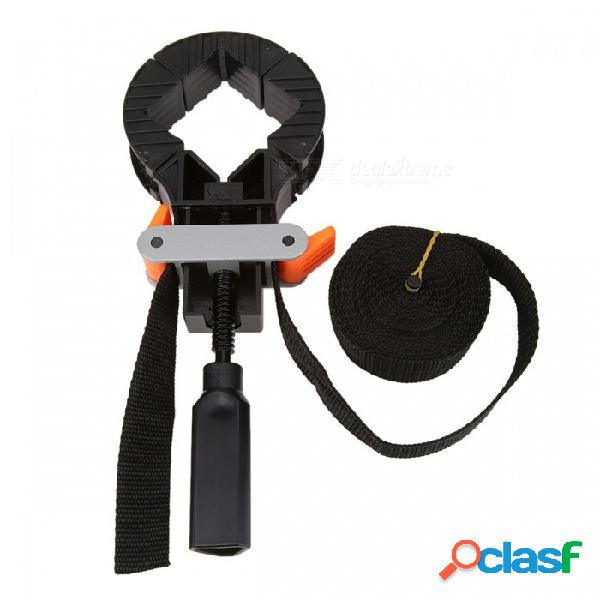 Abrazadera de banda ajustable multifuncional de la correa, clip del marco de la foto de la esquina del ángulo recto de 90 grados