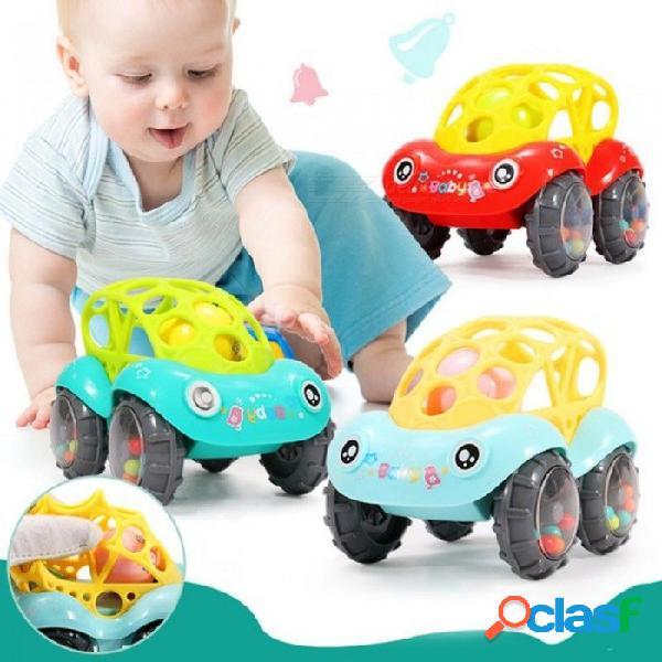 Bebé de plástico no tóxico colorido animales mano tintineo campana sonajero coche sonajeros juguetes música campanilla para niños color al azar aleatorio