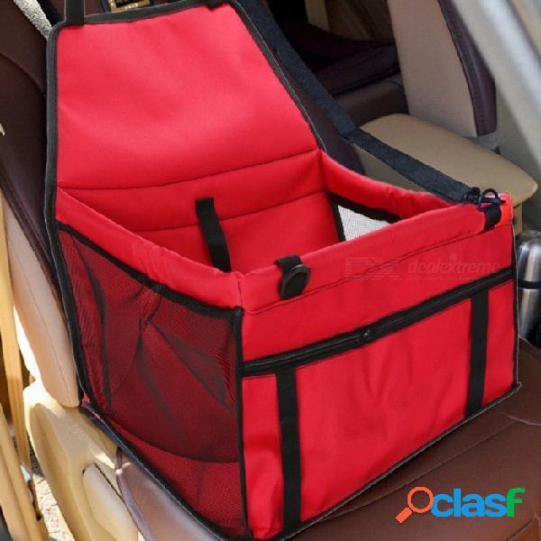 Bolsa de pet asiento de coche cojín seguro llevar perro coche cachorro bolsa accesorios de viaje bolsa impermeable cesta productos para mascotas