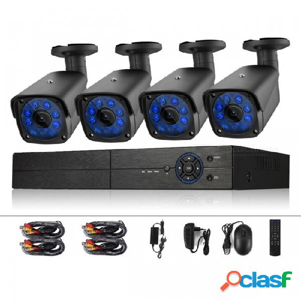 Cámara de seguridad cotier 4ch 1080n sistema de vigilancia dvr 720p 1.0mp hd cámaras cctv resistentes a la intemperie - enchufe de ee. uu.