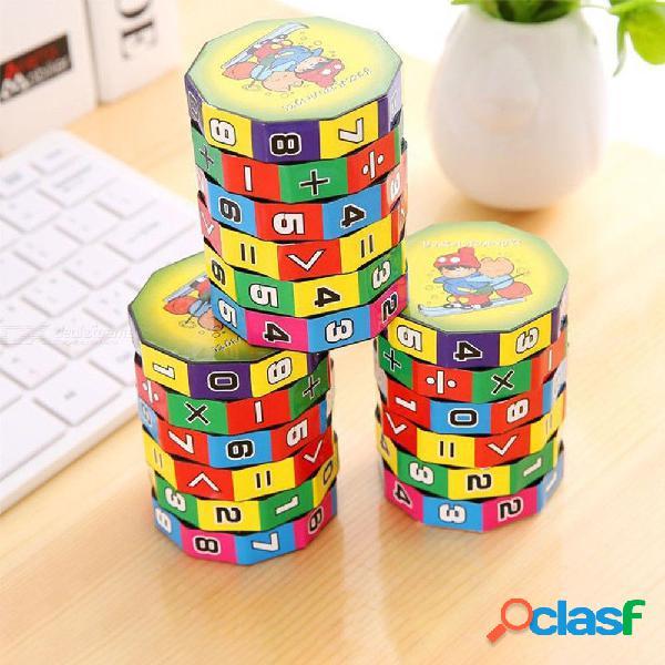 Digital cubo mágico plástico niños cilindro matemáticas suma resta cálculo juguete de entrenamiento para niños educación temprana