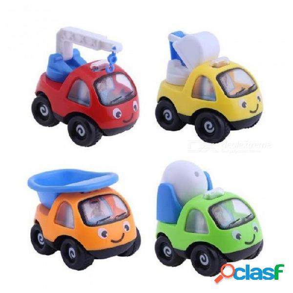 Niños vehículo coche juguetes de ingeniería inercial bebé juguetes clásico camión modelo de dibujos animados coche de juguete para niños regalo verde