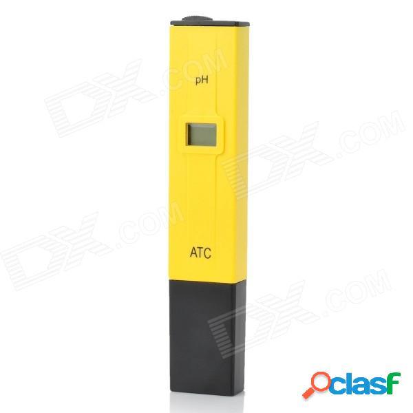 "PH-009 (I) bolígrafo portátil de 0.8 ""LCD de 4 dígitos para medir la acidez líquida - amarillo + negro (3 x AG13)"