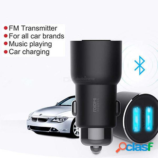 Roidmi 3s bluetooth cargador de coche música mp3 reproductor de fm para iphone android control inteligente 5v 3.4a