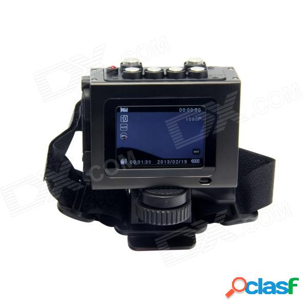 """2..0 impermeable tenying"""" tft 3,5 mp 1080phd deportes ciclismo buceo dvr w / hdmi, tf, av-out - negro"""