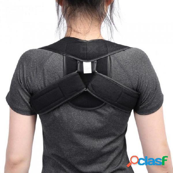 Ajustable espalda superior soporte para el hombro postura corrector niños adultos corsé espina dorsal cinturón trasero ortesis soporte trasero s / color de la piel