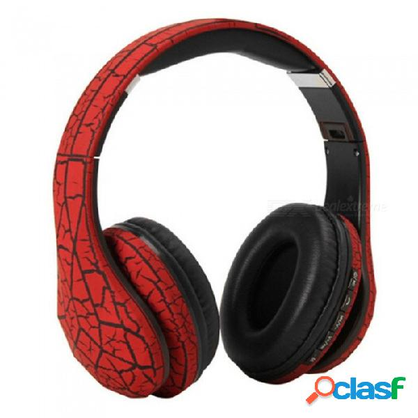 Auricular bluetooth, audífono inalámbrico de alta fidelidad para sonido estéreo con bajos, auriculares de música de manos libres rojo