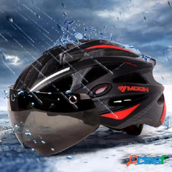 Moon gafas magnéticas 275g mtb carretera ciclismo de montaña casco en-molde lente bicicleta ciclismo equipo negro