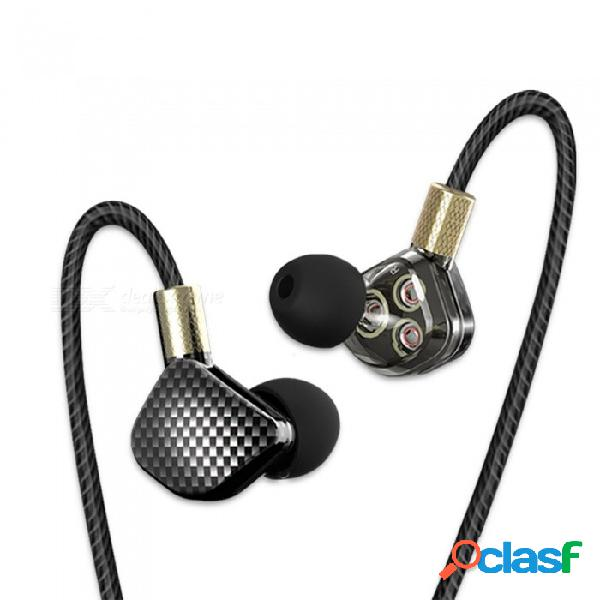 Qkz kd6 6 unidad de controlador dinámico, audífonos intrauditivos para auriculares, con micrófono, estéreo, auriculares hifi para subwoofer deportivos - gris