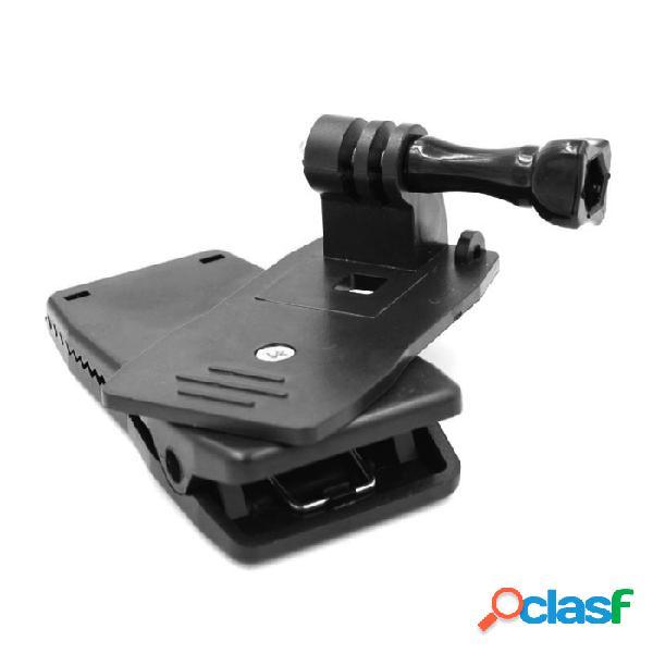 360 ' rotary mochila clip rápido montaje de abrazadera + tornillo largo para gopro héroe 4 / 3 + / 3 /2 / sj4000