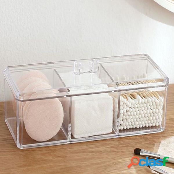 Caja de almacenamiento de caja de almacenamiento de caja de joyería organizador cosmético almohadilla de algodón mariposa titular