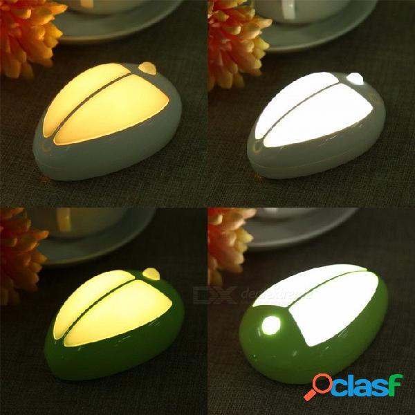 Estilo escarabajo sala de estar dormitorio decoración cuerpo humano led sensor de luz lámpara de inducción para escaleras gabinete dormitorio blanco cálido / verde claro