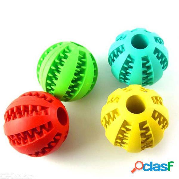 Juguete para perro pelotas de goma interactivas para mascotas gato cachorro elasticidad dientes masticar limpieza de dientes pelotas juguetes para perros