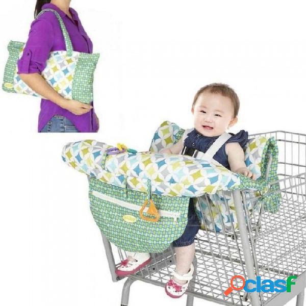Plegable bebé niños carro de compras amortiguador niños carro almohadilla bebé compras push carro cubierta de protección silla de bebé estera del asiento del bebé silla estera del asiento