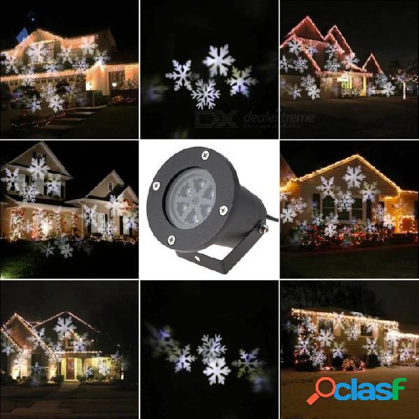 Proyector de proyector de copo de nieve blanco neutro de 4w 6-led para fiestas navideñas. - enchufe de la ue