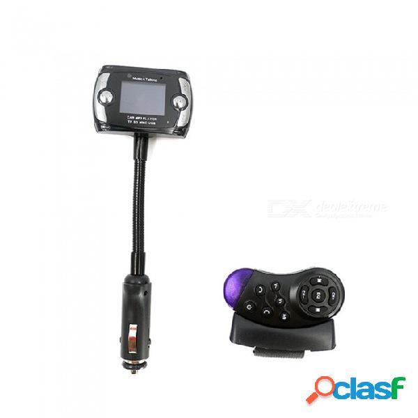 """1.5 """"lcd bluetooth v2.1 reproductor de mp3 para automóvil transmisor de fm con botón en el volante / control remoto"""