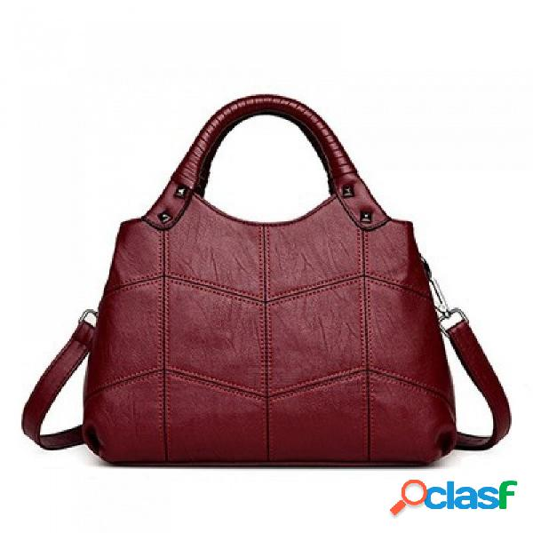 Bolsos de las mujeres bolsos de cuero artificial que hacen punto pequeñas señoras negras bolsos de hombro mujeres totes bolsas de mensajero negro