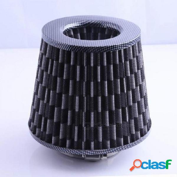 Gris universal cromado acabado del filtro de aire del coche kit de inducción de alta potencia malla deportiva cono cromo acabado filtro de aire z1115 5 up gris